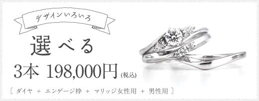 選べる 3本18万円(税抜)