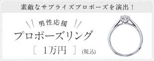 男性応援 プロポーズリング1万円(税抜)