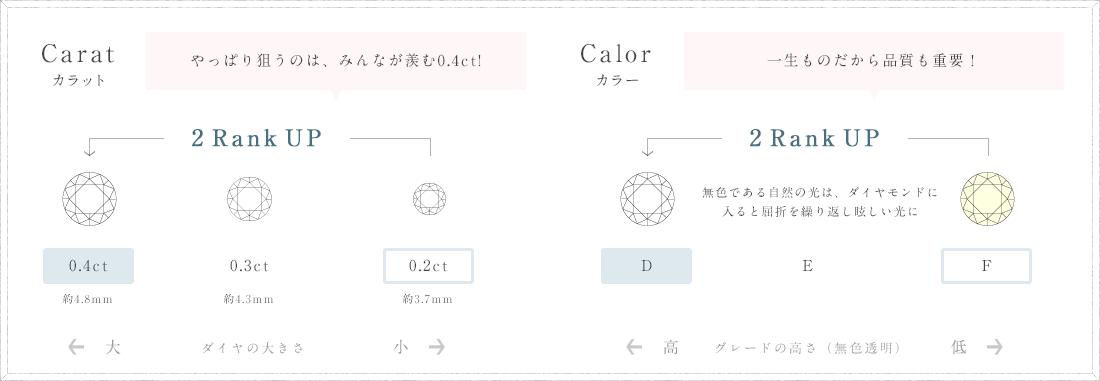 カラット・カラーの解説図